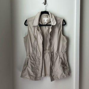 Beige Utility Vest